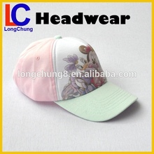 beautiful carton 5 panel child kids safety baseball caps for girls
