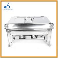 hotel supplies rectangular stainless steel food warmer buffet catering equipment
