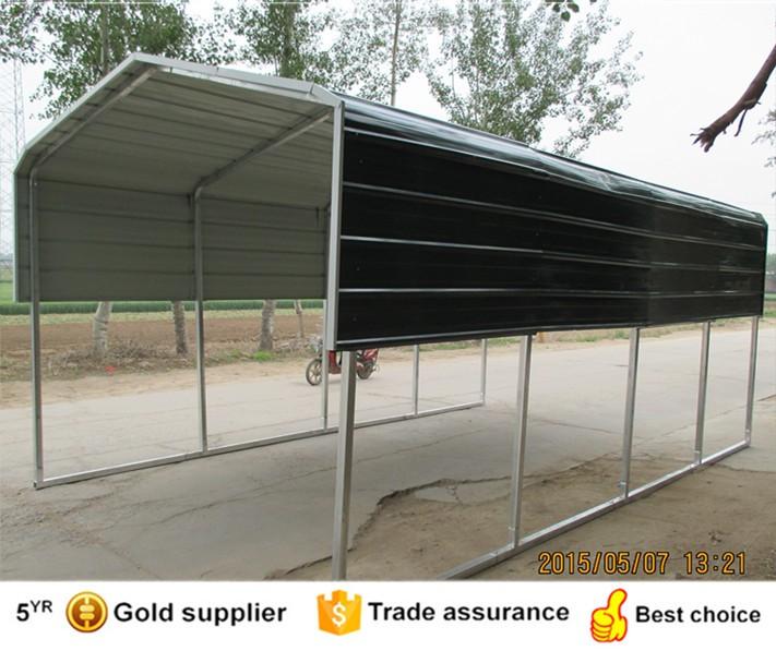 6x6 m voiture parking hangar acier abri voiture garage for Jardin 6x6 shed