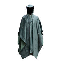 Green color poncho