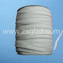 9mm white polyester rubber latex and weave tape used in cloth,hats,eyelets,garment and home textile
