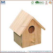 New cheap unfinished wooden bird house wholesale ,stand wooden bird feeder