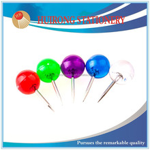 6mm transparent colorful high quality ball shaped plastic ball head push pin
