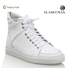 Famous brand name men leather custom logo sneaker
