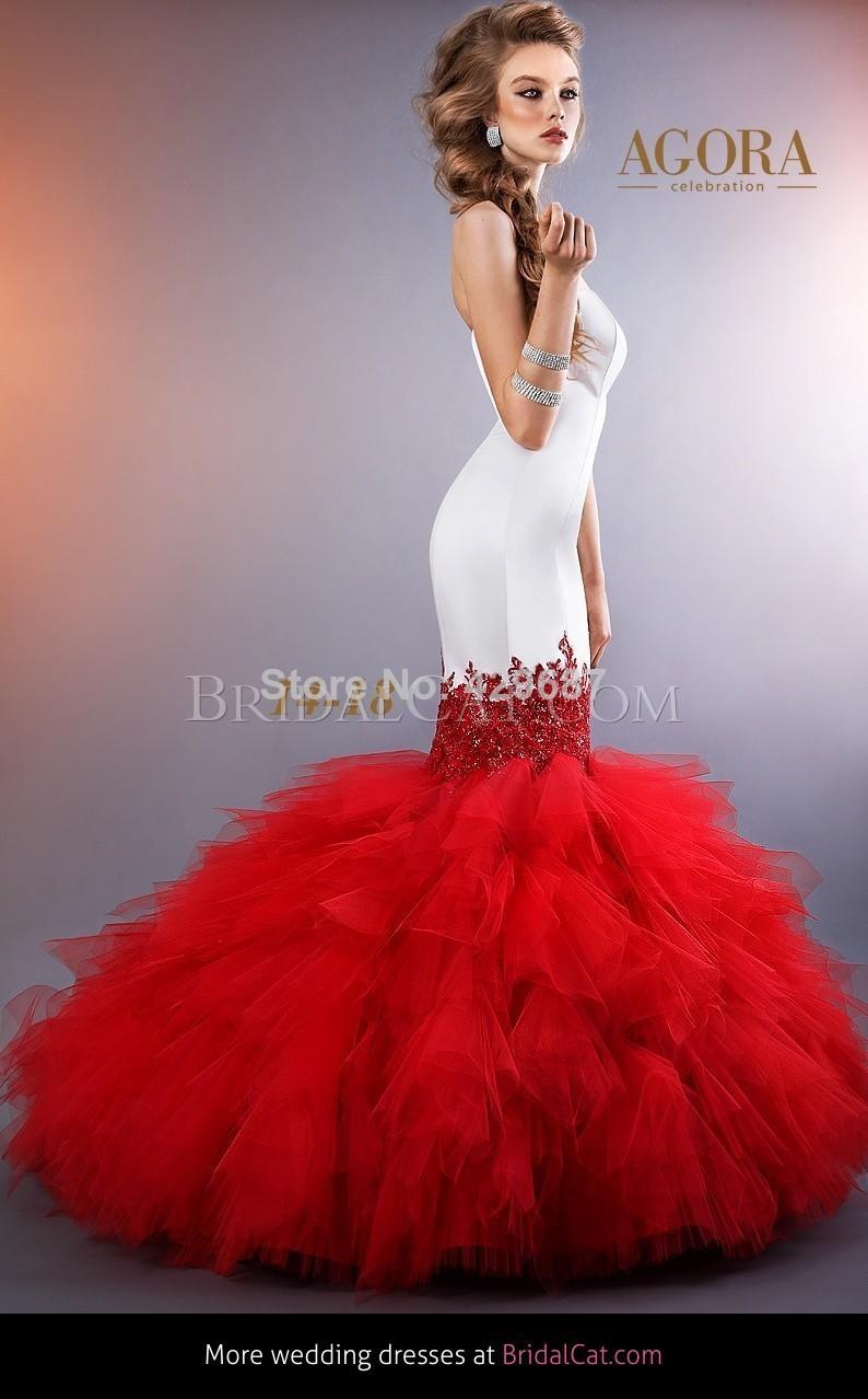 Red Mermaid Wedding Dresses - Ocodea.com
