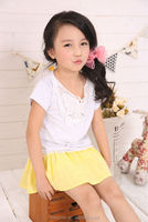 hot sale casual kids girls t shirts with printed