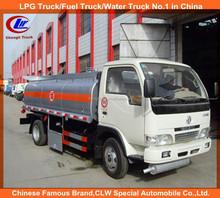 6 wheeler Mini fuel/oil/gasoline/petrol filling truck, 3cbm 5cbm mobile refueling truck, Dongfeng fuel filling truck for sale