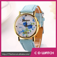New Arrive Nature feel Watch PU Leather Sport Wristwatch Women Dress Watches Relogios Femininos GENEVA Watch XR702
