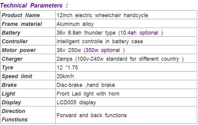 electric handbike wheelchair