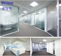 glass pvc office partition wall material