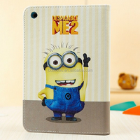 lovely case minion case for ipad 2 3 4