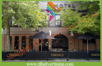 High Quality Outdoor Cafe Barrier/Advertising Wind Breaks Barrier