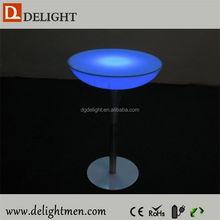 Outdoor color change led illuminated table/ led illuminated cocktail table/led lighted dining table/ led western style