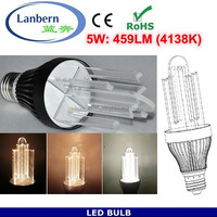 40W Incandescent replacement high lumen 100lm/w dimmable e27 SMD2835 5W led light bulbs uk CE&ROHS