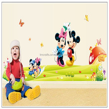 Kids favorite popular Mickey Minnie Mouse family vinyl wall sticker art baby kids room poster cartoon wallpaper decal DF5086
