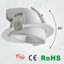 Factory price !! Swiveling 45 degree led downlight recessed adjustable