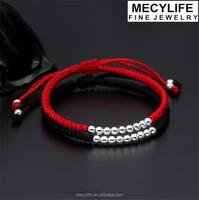 MECY LIFE 2015 wholesale good luck bracelet plait bracelet real silver 925 beads