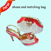 hot selling high quality italian designer shoes and bags to match woman MG0004