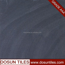 sand style, hot sale black sand stone with polished matt porcelain floor tile