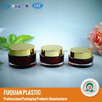 cosmetic make up red plastic acrylic jars