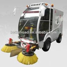 High efficiency electric vacuum street sweeper