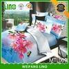 Bright color cotton sequins duvet cover set