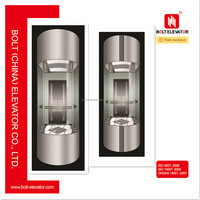 Sino German 630KG~1000KG Capacity panoramic glass elevator lift