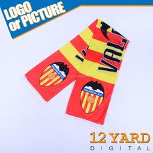 Spain soccer scarf Valencai Football scarf Espana pattern , 54 x 9 Inch
