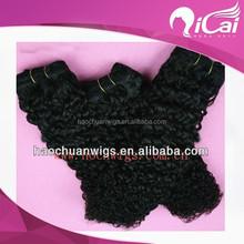 Qicai natural raw indian hair,virgin indian deep curly hair