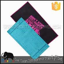 Custom slogans print waffle promotion gift towel