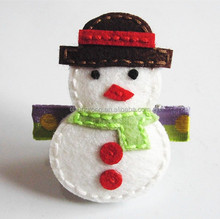 Christmas hair accessory, yiwu felt snow man hair accessory