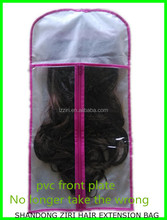 custom hair extension packaging bag/silk and satin bags for hair extension