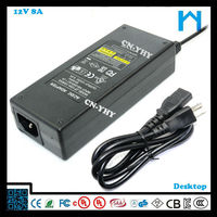 12vdc switching power supply led strip power supply dimmer 96w replacment ac dc adapter 8A
