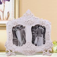 Resina cambiable plata mini elegante marco de fotos decoración de la navidad adornos impermeable bola de nieve de peltre marco BY001