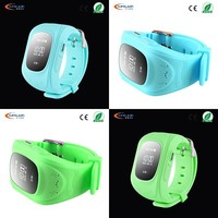 Multi-functional real time tracker kids gps watch phone with SOS for smartphone
