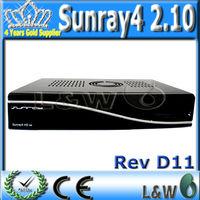 mpeg-4 hd dvb-s/s2 dvb-t/t2 receiver sunray4 800 hd se sr4 triple tuner wifi with sim 2.10 or sim a8p card in stock