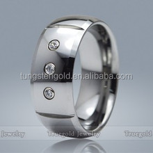 6mm or 8mm Unique Diamond Tungsten Wedding Rings Jewelry