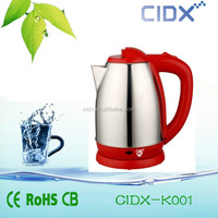OEM red handle stainless steel electric kettles ( CIDX-K001)