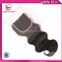 top quality best 7a body wave hair weave brazilian remy hair top closure virgin hair closure piece