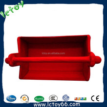 Factory custom red kid plush toy case funny tool box