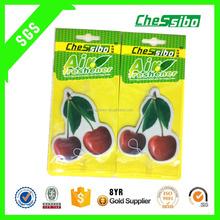 Good quality Hanging 7*9cm custom Eco-friendly cotton paper cardboard air freshener for car