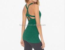 Flatlock Active Wear Fashion Custom Tight Gym Tank Top Wholesale Sports Girls Tank Top