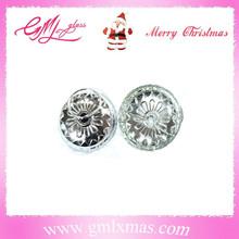 decorative metal cap,xmas ball aluminum cap,delicate christmas ornament metal caps
