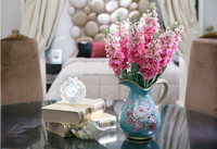 Home decor flower arrangement dried violet flowers