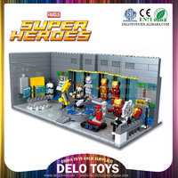 birthday gifts for boys child plastic building bricks assemble minifigures toys super heroes mech Armor series figures DE0203064