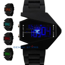 Cool Sport alarm backlight Airplane Pilot LED wrist watch women man size