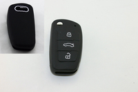 Silicone Car Remote Fob Shell Key Holder for A6L Q7 TT R8 A3 A4L(2009)
