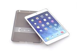 2015 new TPU+ PC transparent display stand Hybrid phone case for ipad mini
