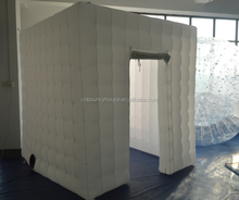 Unique design inflatable cube tent with LED light,inflatable party tent for events