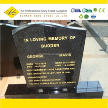 indian black galaxy granite monument and headstone